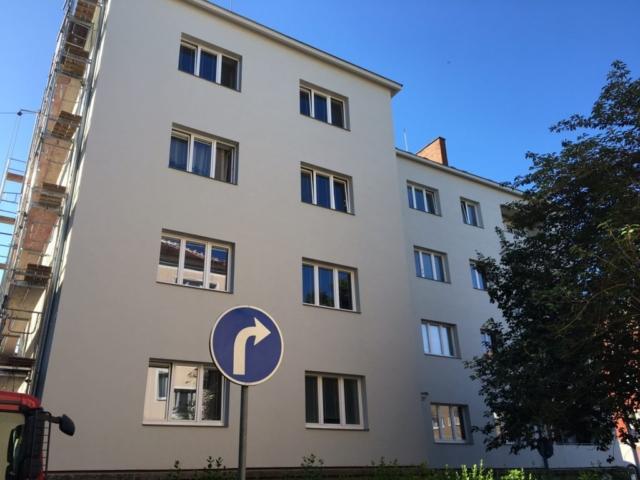 Zateplení fasády bytového domu Brno -Žabovřesky